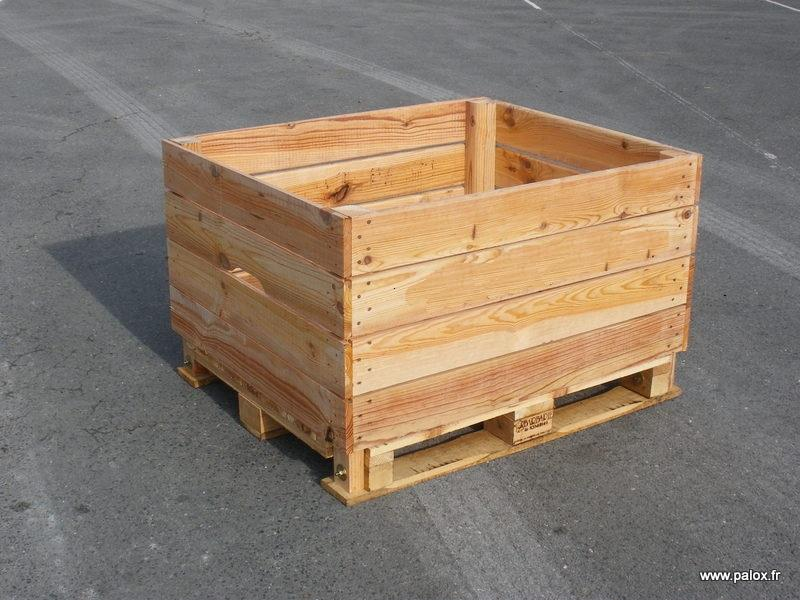 Barbarie storage boxes bins and pallets made in france for Storage box made from pallets